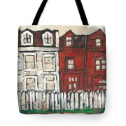Houses On William Street Tote Bag
