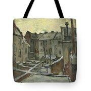 Houses Seen From The Back Tote Bag