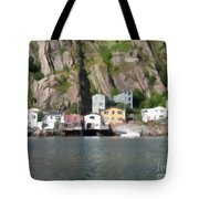 Houses With Expressive Brushstrokes Tote Bag