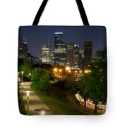 Houston At Night Tote Bag