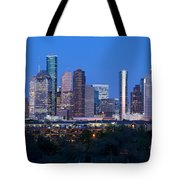 Houston Night Skyline Tote Bag