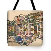 Houston Rockets Retro Poster Tote Bag