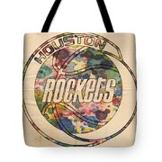 Houston Rockets Vintage Poster Tote Bag