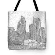 Houston Skyline Abstract Tote Bag
