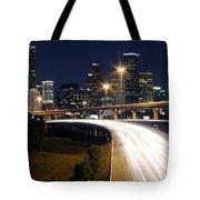 Houston Skyline At Dusk Tote Bag