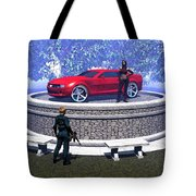 How Did You Get That Car Up There? Tote Bag