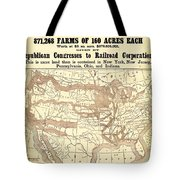 How The Public Domain Has Been Squandered 1884 Tote Bag