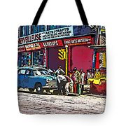 How To Change A Tire Comic Tote Bag by Steve Harrington