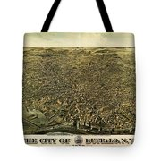 Howards Map Of Buffalo New York 1880 Tote Bag