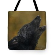 Howling Gray Wolf Pup Endangered Species Wildlife Rescue Tote Bag