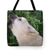 Howlling Arctic Wolf Pup Endangered Species Wildlife Rescue Tote Bag