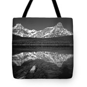 1m3643-bw-howse Peak Mt. Chephren Reflect-bw Tote Bag