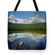 1m3643-howse Peak, Mt. Chephren Reflect Tote Bag