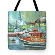 Howth Harbour 01 Tote Bag