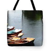 Hoyt Lakes Rowboats In Delaware Park Buffalo Ny Oil Painting Effect Tote Bag