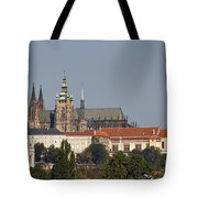 Hradcany - Cathedral Of St Vitus On The Prague Castle Tote Bag
