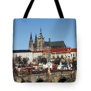 Hradcany - Prague Castle Tote Bag by Michal Boubin
