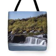 Hraunfossar Iceland 9 Tote Bag