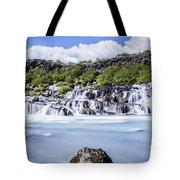 Hraunfossar Iceland Tote Bag