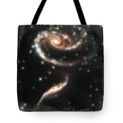 Hubble - Rose Made Of Galaxies Tote Bag