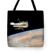 Hubble  Telescope  In  Orbit  Above  Earth Tote Bag