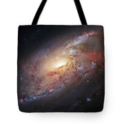 Hubble View Of M 106 Tote Bag by Adam Romanowicz