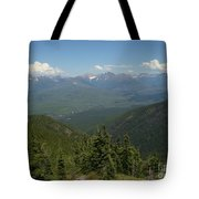 View Of The Rockies From Huckleberry Mountain Glacier National Park Tote Bag
