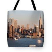 Hudson River And Manhattan Skyline I Tote Bag