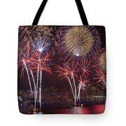 Hudson River Fireworks Viii Tote Bag by Clarence Holmes
