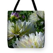 Hues Of Softness Dahlia Tote Bag
