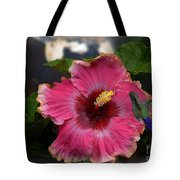 Huge Mexican Desire Hibiscus With Hummingbird Tote Bag