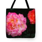 Huge Pink And White Rose...   # Tote Bag