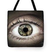 Human Eye Macro Tote Bag by Elena Elisseeva