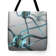 Human Nerve Cells, Computer Artwork Tote Bag