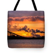 Humboldt Bay Industry At Sunset Tote Bag