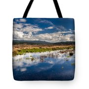 Humboldt Marshes In Spring Tote Bag