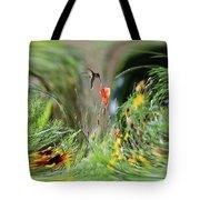 Humming Bird Digital Art Tote Bag