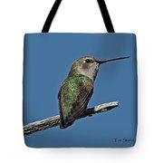 Humming Bird On A Stick Tote Bag