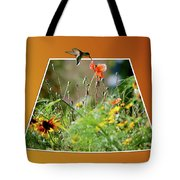 Humming Bird Out Of Bounds Tote Bag