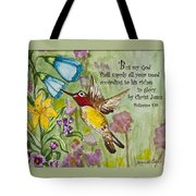 Humming Bird- Philipians Tote Bag