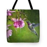 Hummingbird And Fuschia Tote Bag