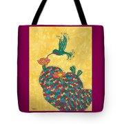 Hummingbird And Prickly Pear Tote Bag