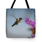 Hummingbird At Butterfly Bush Tote Bag