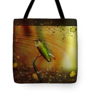 Hummingbird At The Pond Tote Bag