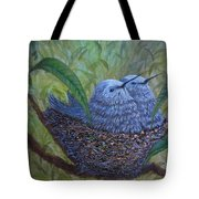 Hummingbird Babies Tote Bag