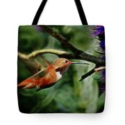 Hummingbird Dreams Digital Art Tote Bag