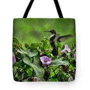 Hummingbird In The Rain Tote Bag