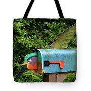 Hummingbird Mailbox Tote Bag