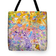 Hummingbird Spring Tote Bag