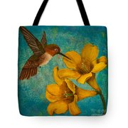 Hummingbird With Yellow Jasmine Tote Bag